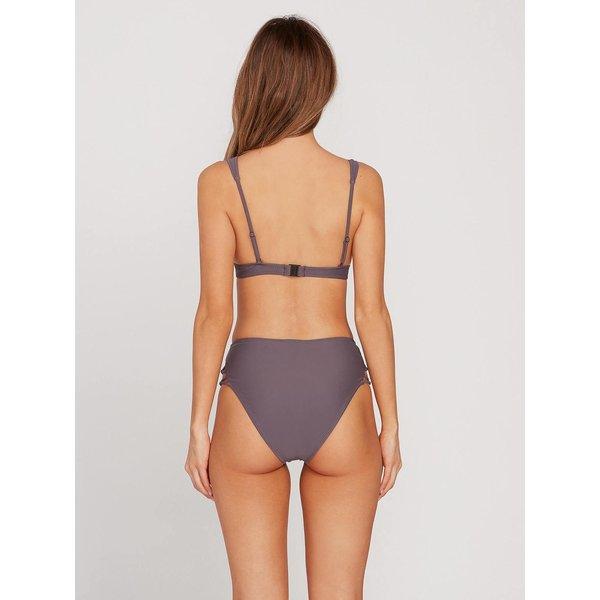 Volcom Dames Simply Solid Halter Bikini Top Steel Purple