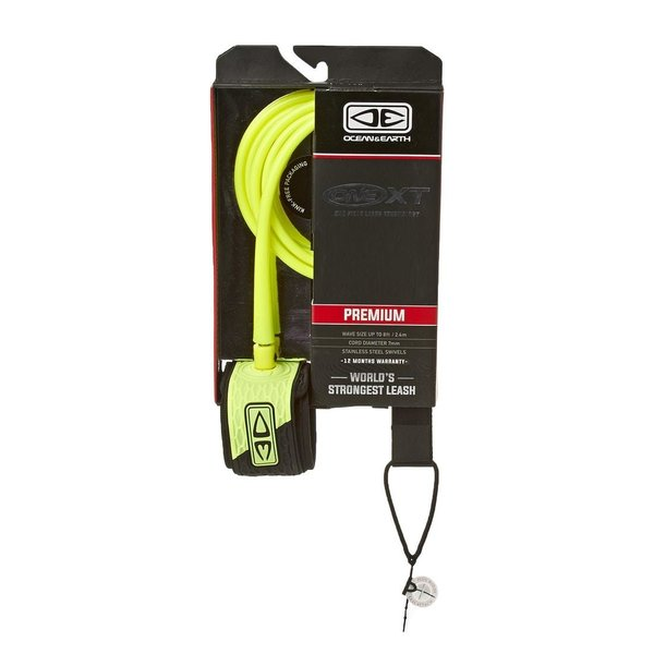 O&E 6ft Premium XT Leash Yellow