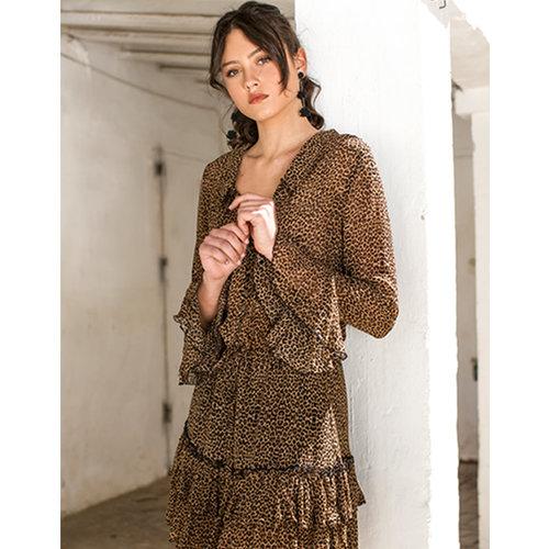 Isla Ibiza Isla Ibiza Dames Dress Leopard Print