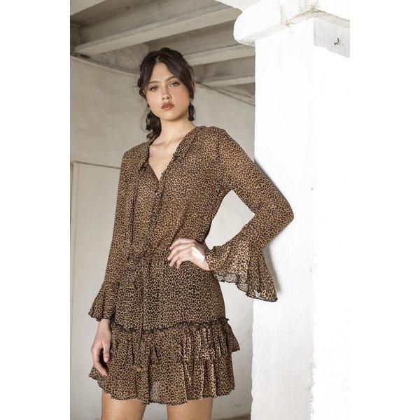 Isla Ibiza Dames Dress Leopard Print