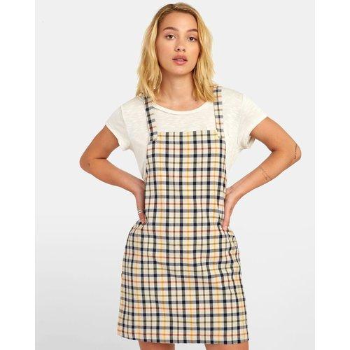 RVCA RVCA Dames Allen Plaid Dress Oatmeal