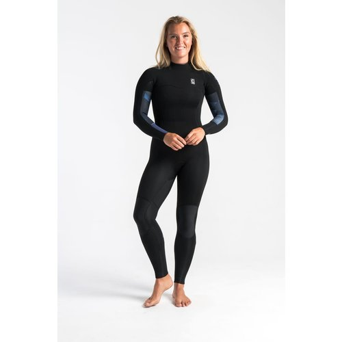 C-Skins C-Skins Solace 4/3 Women's Wetsuit RavenBlack/Unity/GreenAsh Back Zip