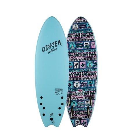 Catch Surfboards Catch Odysea 5'6'' Pro Skipper Quad Jamie O'Brien Sky Blue 2.0