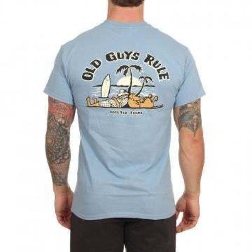 Old Guys Rule Old Guys Rule Heren Dogs Best Friend 2 Tee Stone Blue