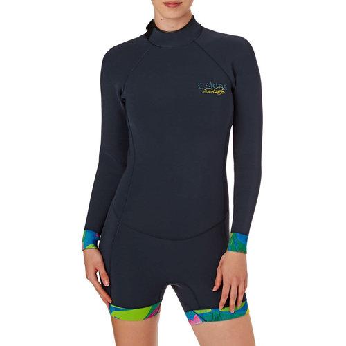 C-Skins C-Skins Boyleg Solace 2mm Dames Wetsuit Shorty Tropic