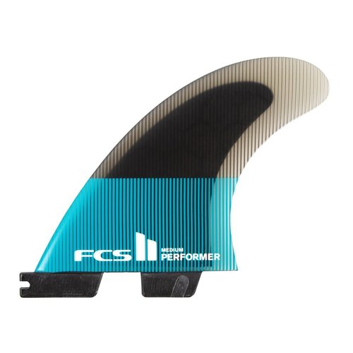FCS FCS II Performer PC Thruster Rear Fins Teal/Black