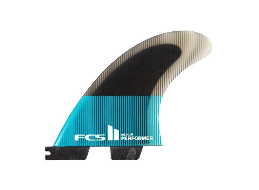 FCS II Performer PC Quad Fins Teal/Black
