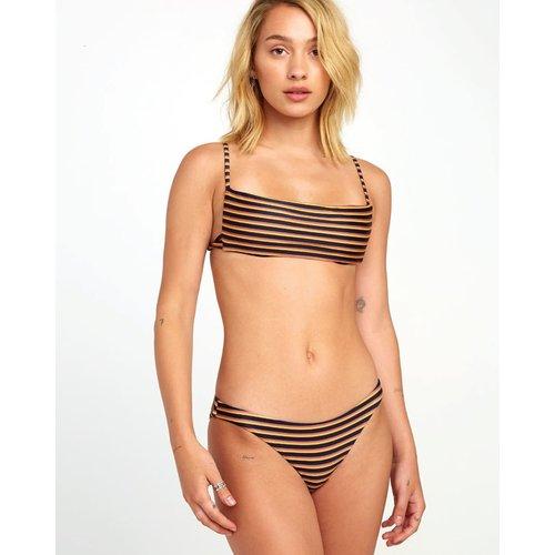 RVCA RVCA Dames Bondi Stripe Bikini Bottom Midnight