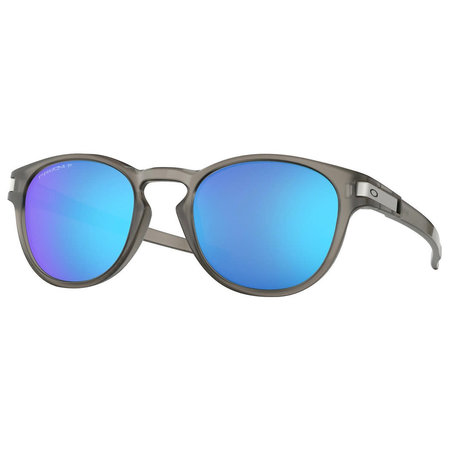 Oakley Oakley Latch Matte Grey Ink Prizm Sapphire Polarized Sunglasses