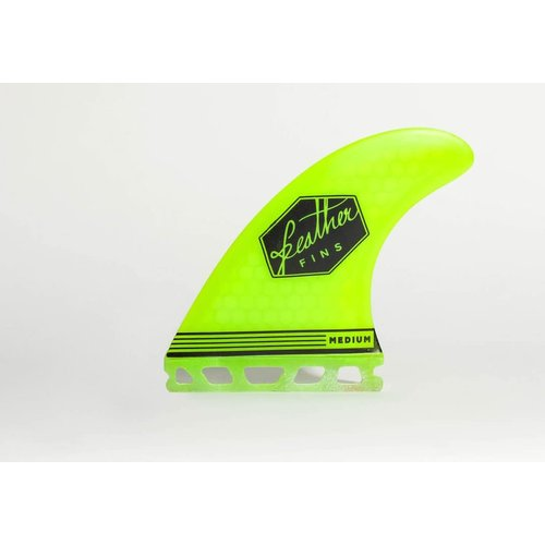 Feather Fins Feather Fins Futures Ultralight Thruster Fins Yellow