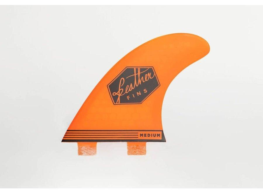 Feather Fins Dual Tab Ultralight Thruster Fins Orange