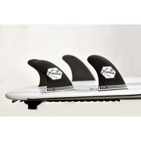Feather Fins Feather Fins Futures Ultralight Quad Fins Black