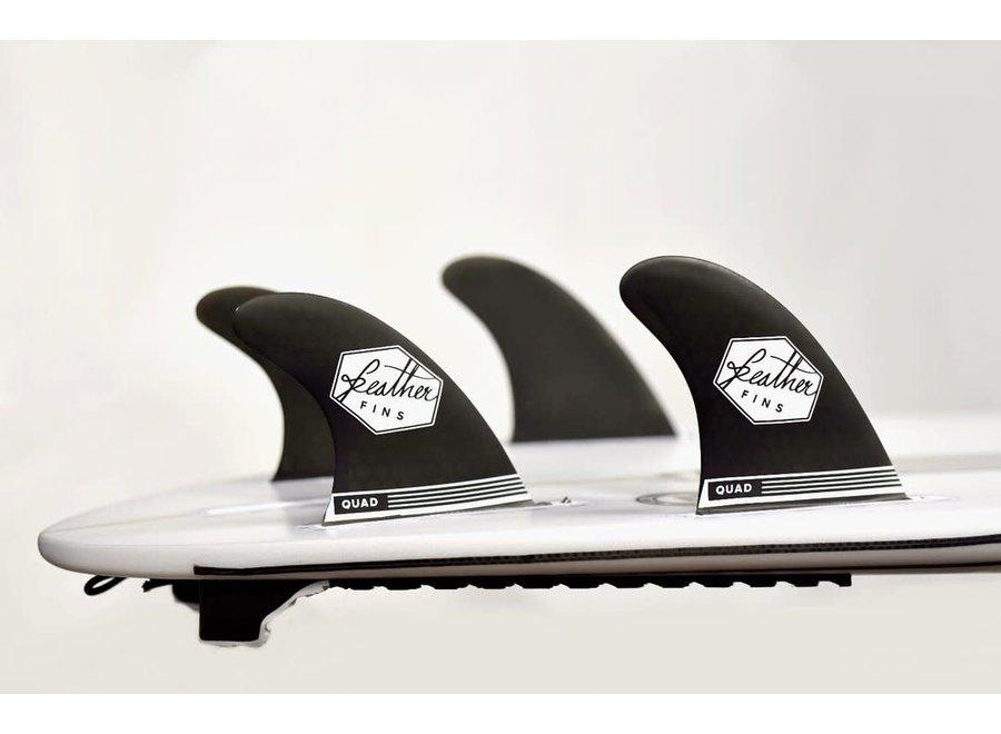 Feather Fins Single Tab Ultralight Quad Fins Black