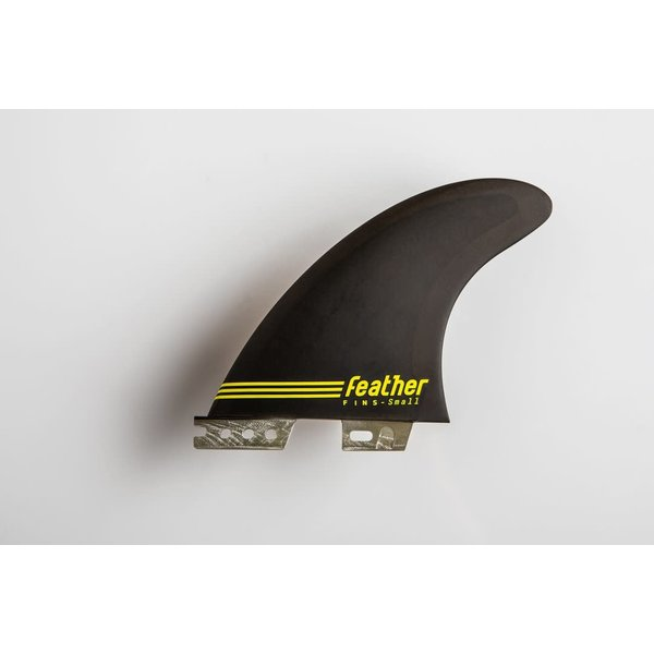 Feather Fins FCS II Ultralight Epoxy Thruster Fins Black/Yellow