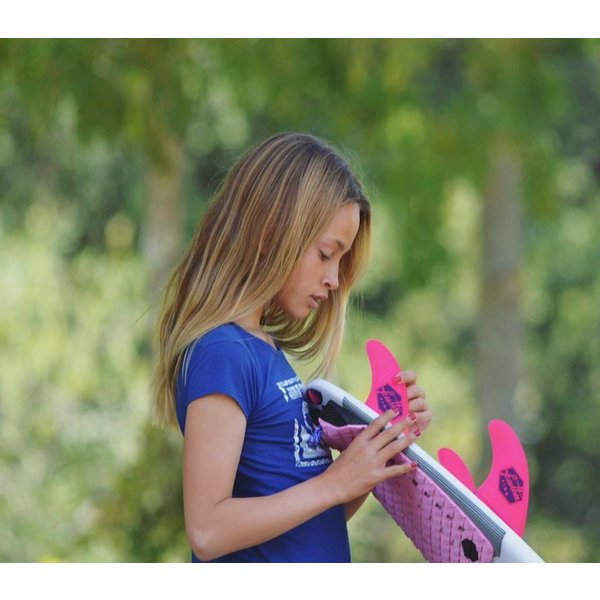 Feather Fins Futures Ultralight Thruster Fins Pink