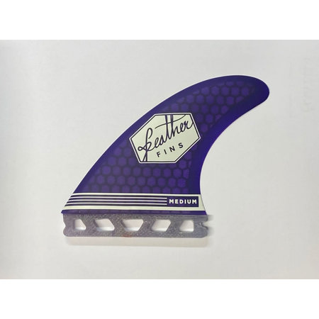 Feather Fins Feather Fins Futures Ultralight Thruster Fins Purple