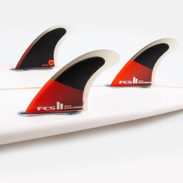 FCS II Accelerator PC Thruster Fins Red/Black