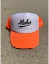 Aloha Logo Trucker Cap Orange