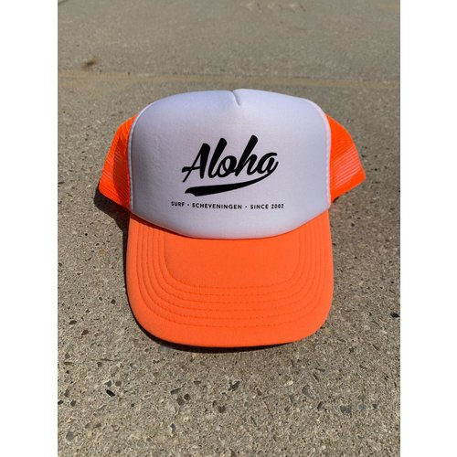Aloha Surf Aloha Logo Trucker Cap Orange