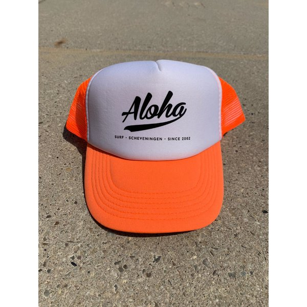 Aloha Logo Trucker Cap Orange