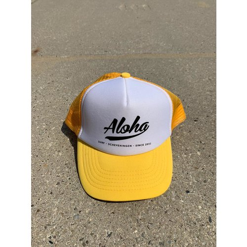 Aloha Surf Aloha Logo Trucker Cap Yellow