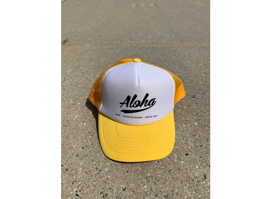 Aloha Logo Trucker Cap Yellow