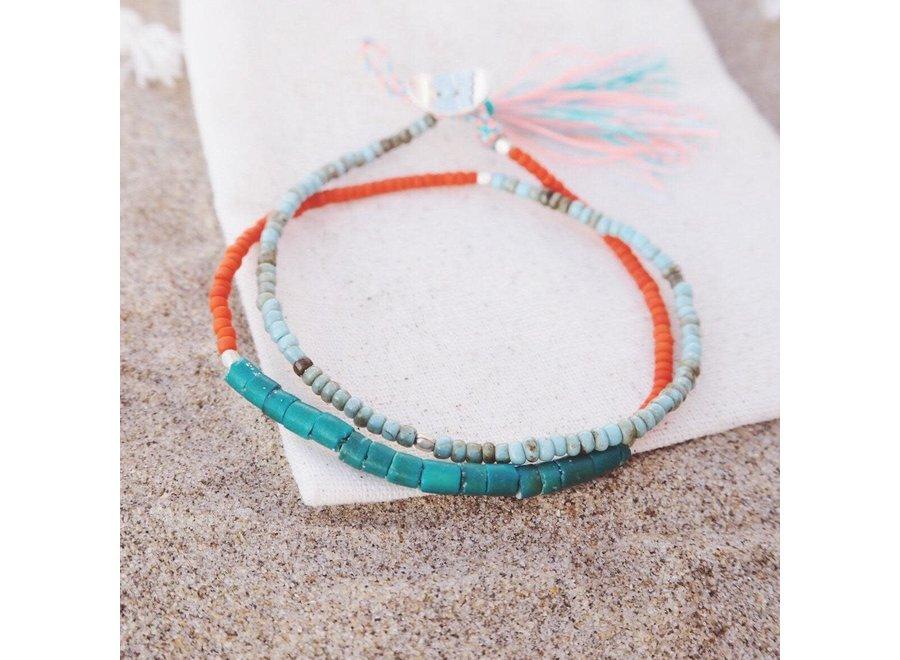 At Aloha Seas The Day Armband Orange