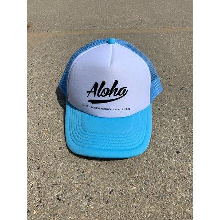 Aloha Surf Aloha Logo Trucker Cap Light Blue