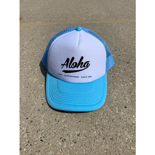 Aloha Surf Aloha Logo Trucker Cap Light Blue
