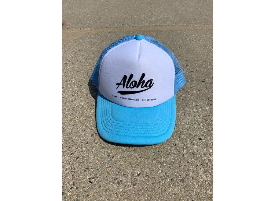 Aloha Logo Trucker Cap Light Blue