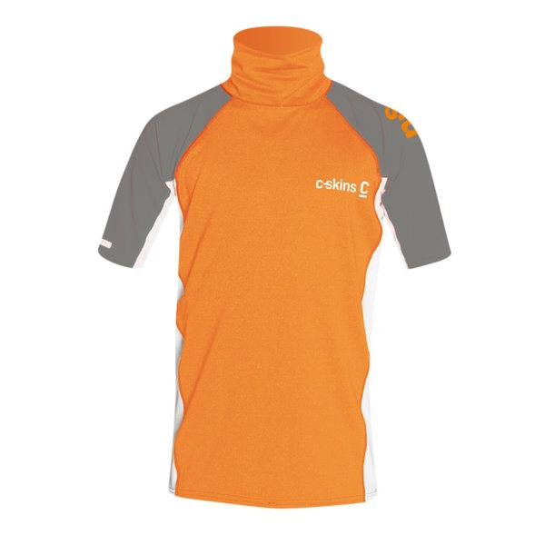 C-Skins Kinder Lycra Short Sleeve Flo Orange/White