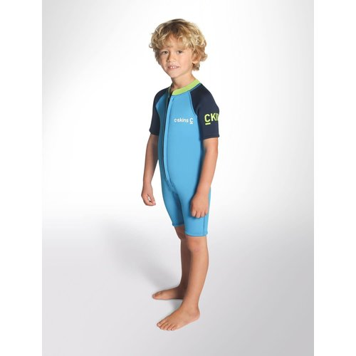 C-Skins C-Skins 3/2 Baby Waves Shorty Wetsuit Cyan/Navy/Lime