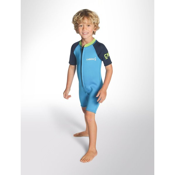 C-Skins 3/2 Baby Shorty Wetsuit Cyan/Navy/Lime