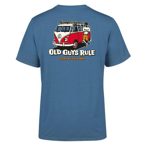 Old Guys Rule Old Guys Rule Heren Stand By Your Van Tee Red Van