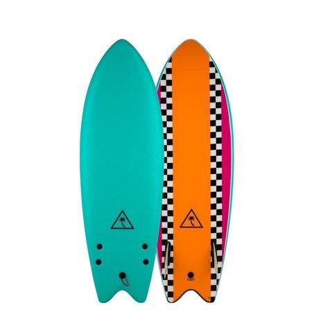 Catch Surfboards Catch Heritage 5'6'' Retro Fish Twin Turquoise/Orange