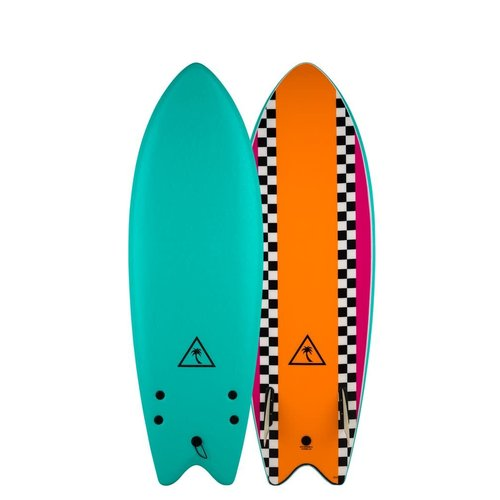 Catch Surfboards Catch Heritage 5'6'' Retro Fish Twin Turquoise/Orange