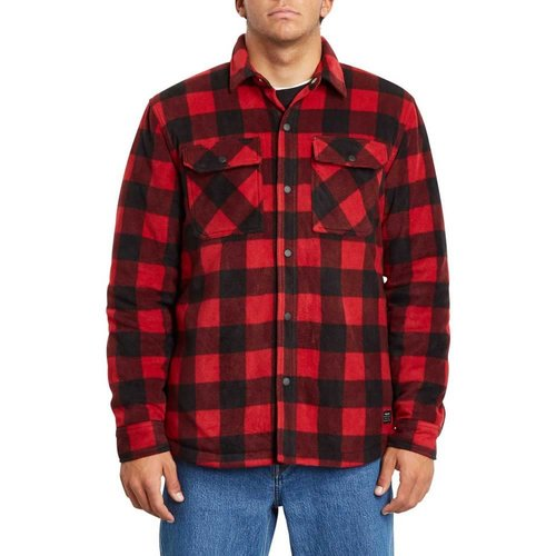 Volcom Volcom Men's Bower Polar Fleece Rio Red