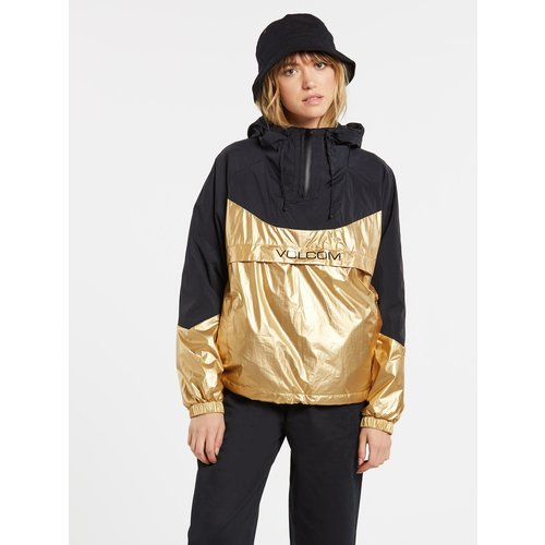 Volcom Volcom Dames Throback Ins Nuts Windbreaker Gold