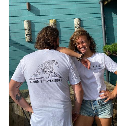 Aloha Surf Huismerk Aloha Golf T-Shirt Wit Unisex