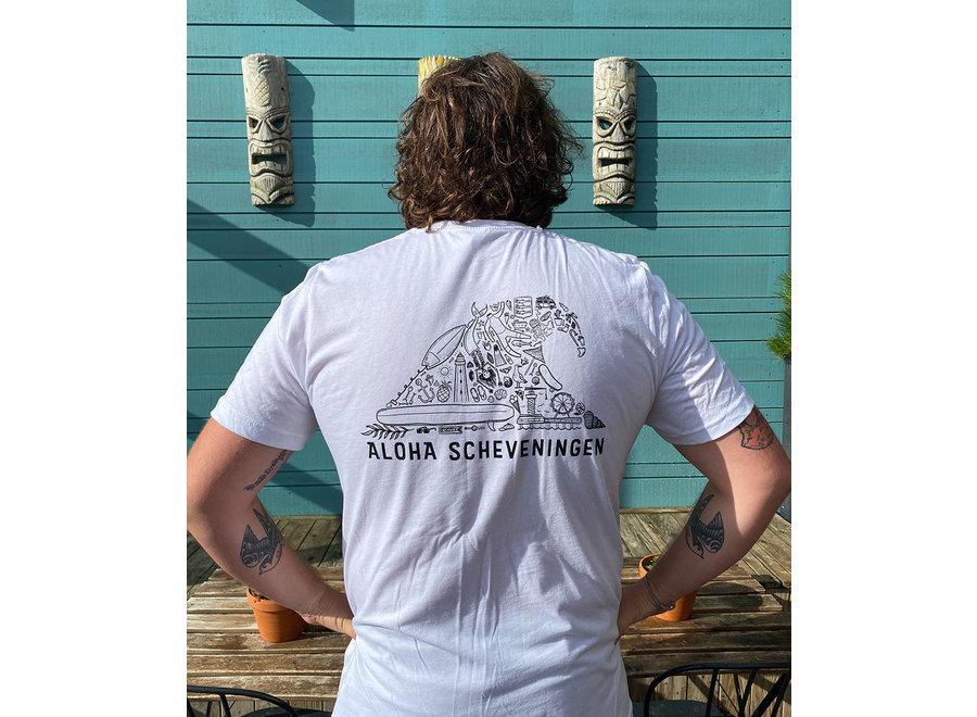 Aloha Golf T-Shirt Wit Unisex