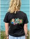 Aloha Dames Club T-Shirt Zwart