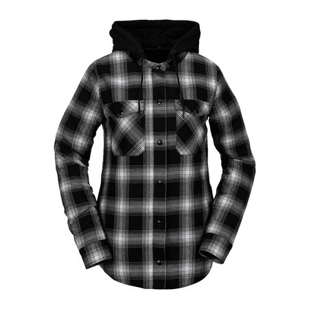 Volcom Volcom Dames Hooded Flannel Jacket Black