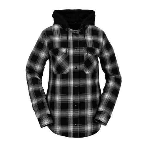 Volcom Volcom Women's Hooded Flannel Jacket Black