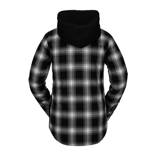 Volcom Women's Hooded Flannel Jacket Black