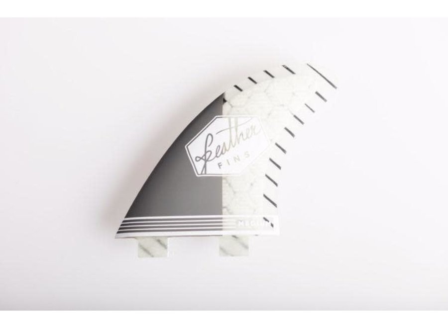 Feather Fins Dual Tab Superlight Thruster Fins Grey