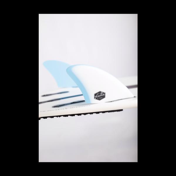 Feather Fins FCS II Twin Fin Blue/White