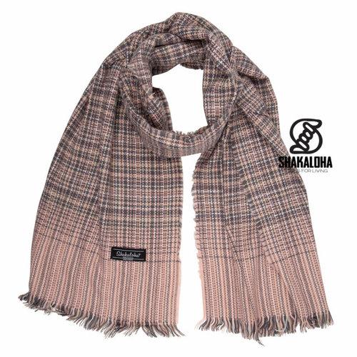Shakaloha Shakaloha Bawika Sjaal Grey Pink