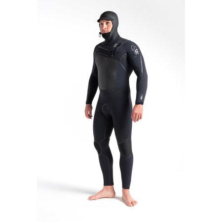C-Skins C-Skins Wired 5/4 Heren Wetsuit Hooded Black X/Black X/Black