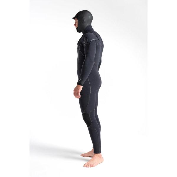 C-Skins Wired 5/4 Heren Wetsuit Hooded Black X/Black X/Black