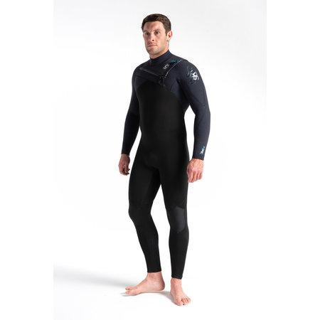 C-Skins C-Skins Rewired 5/4 Heren Wetsuit Black/BlackX/UltraCyan